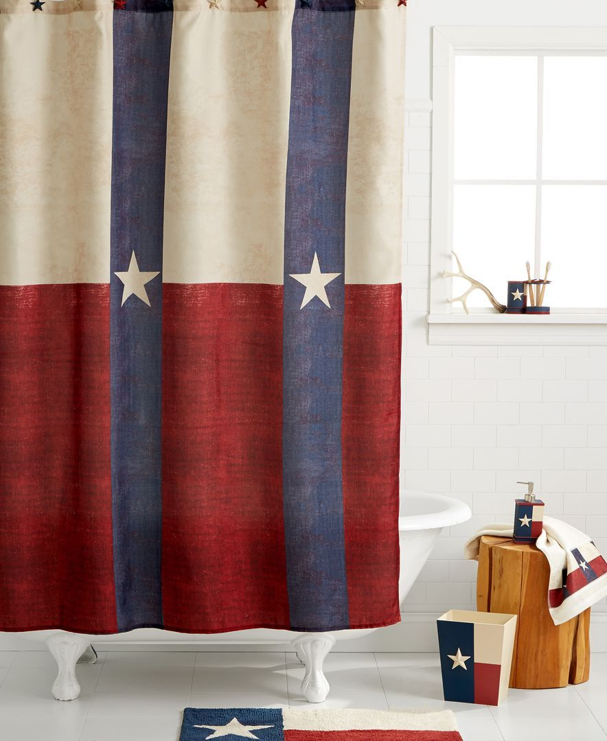 Avanti Bath Texas Star 70 X 72 Shower Curtain Texas Shower