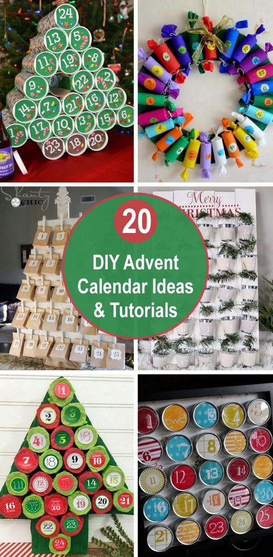 20 Diy Advent Calendar Ideas Tutorials Christmas Advent Calendar Diy Advent Calendar Advent Calendars For Kids