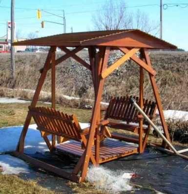 Superbe Plans For A Deluxe Garden Swing