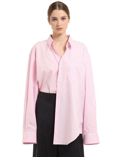 VETEMENTS Oversized Striped Cotton Shirt, Pink. #vetements #cloth ...