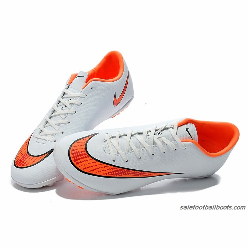 competitive price f6b6f b82a5 Nike Mercurial Victory V TF White Orange  61.99
