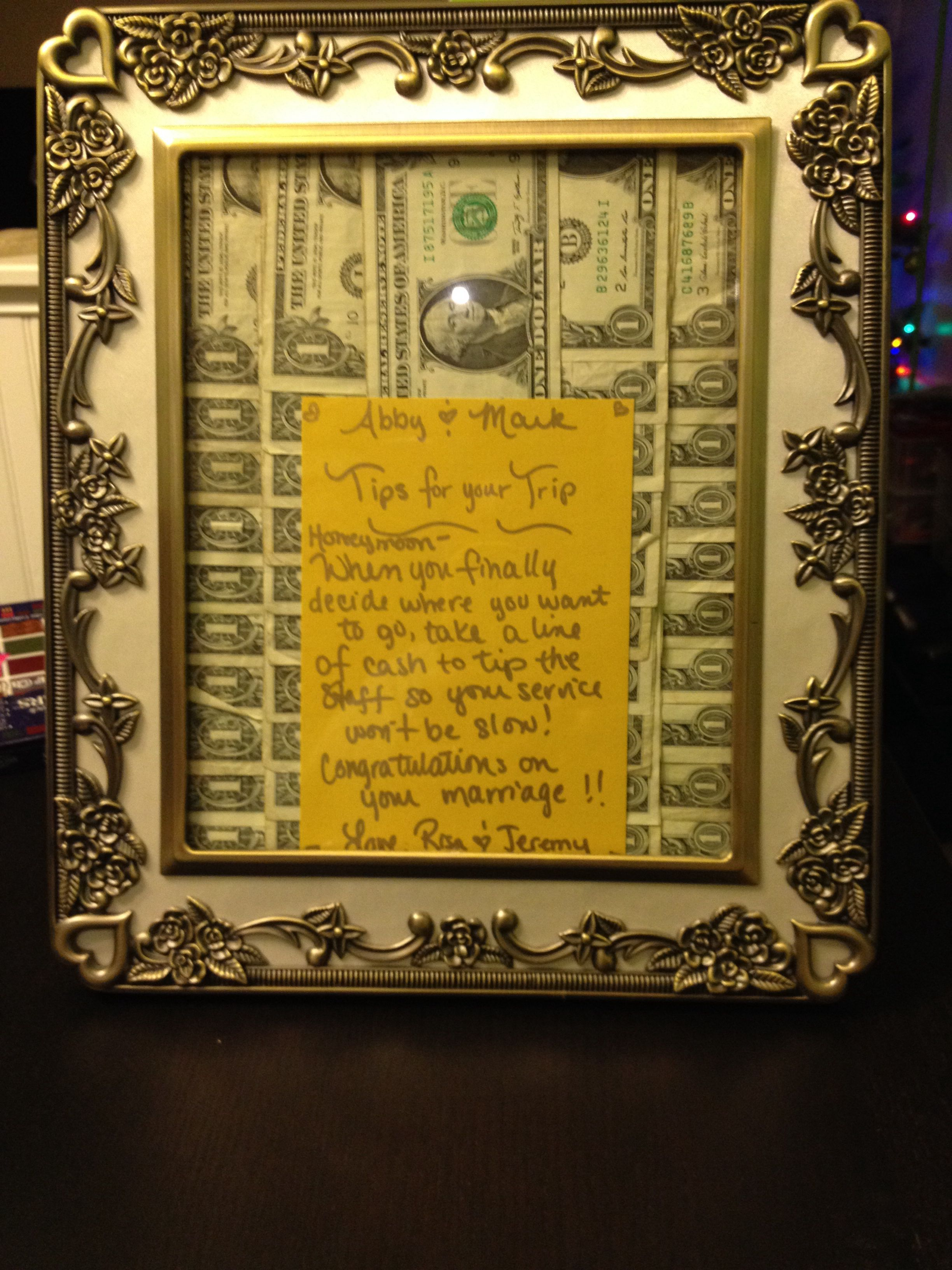 Never got to post this, but great wedding gift idea