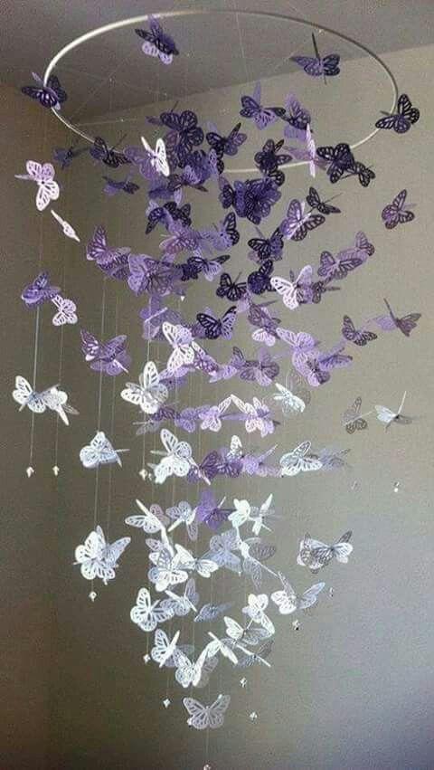Pin By Danielle Santos On Purple Is My Passion Basteln Dekoration