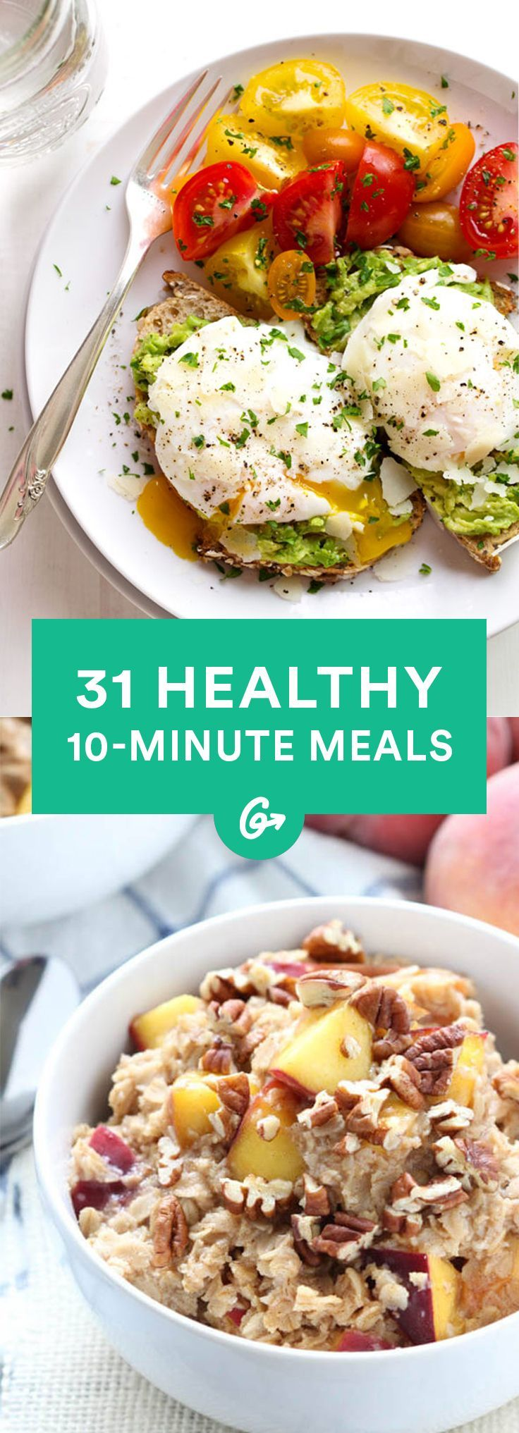10-Minute Recipes\u201429 Healthy, Fast Meals This collection of recipes covers breakfast, lunch, and dinner \u2014 and it\u2019s fast food health experts would approve of. #quickfitness