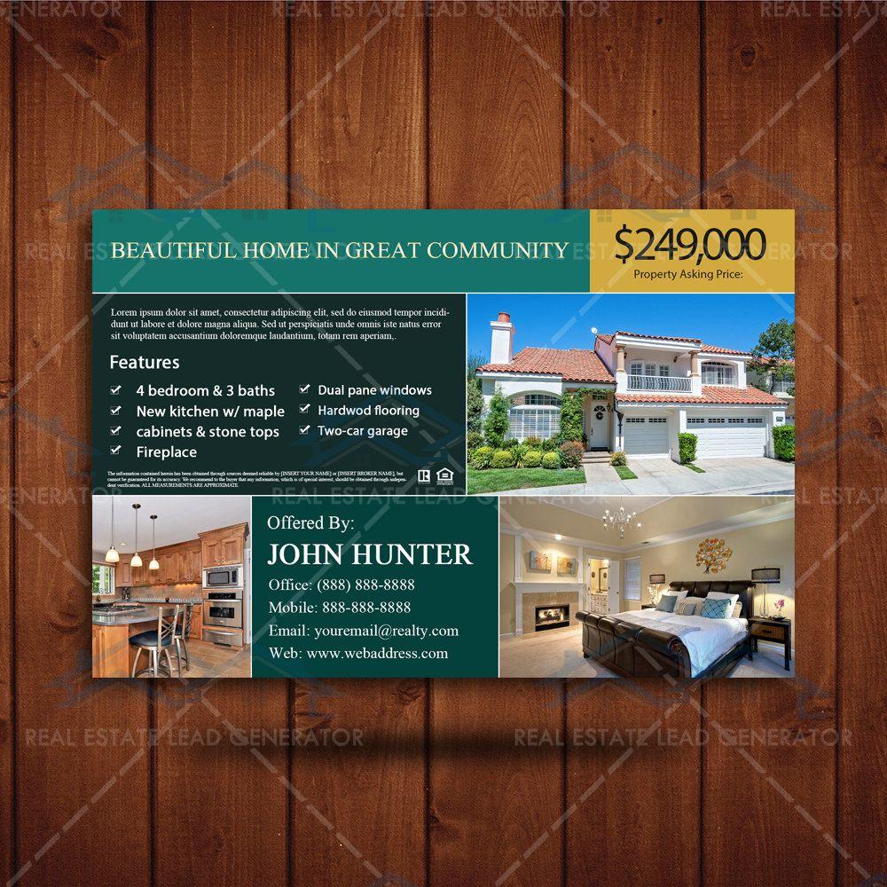 Property Listing Marketing Realtor Branding Postcard Real Estate - Custom postcard template