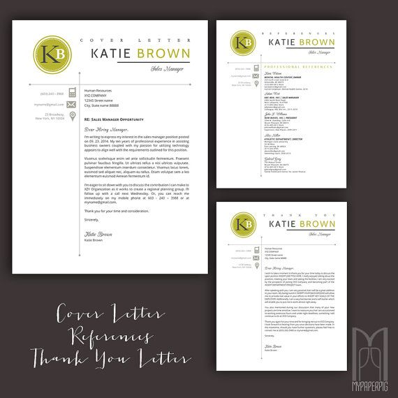 Resume Template And Cover Letter Template  Professional Creative