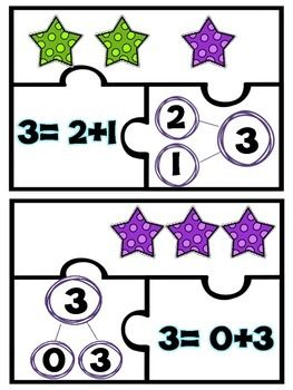 Addition Puzzles | Math for K1 | Maths puzzles, Number bond