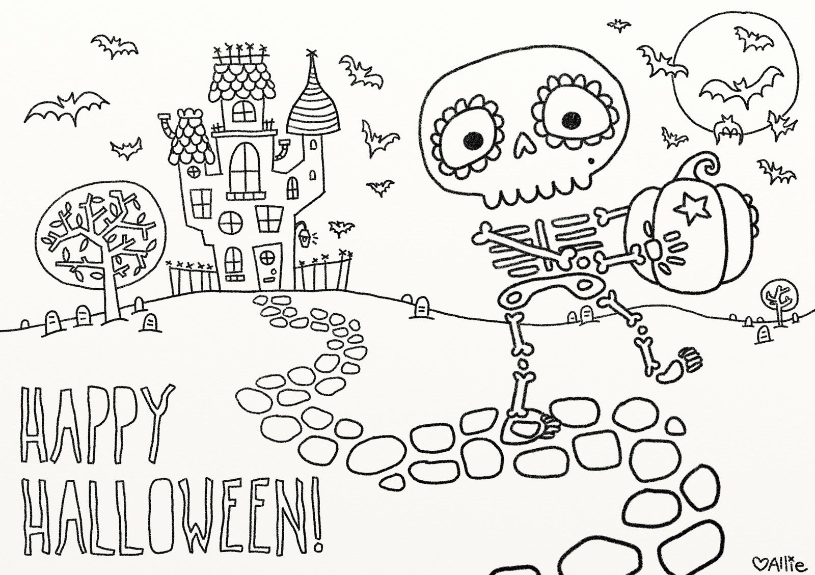 9 Fun Free Printable Halloween Coloring Pages Happy Halloween
