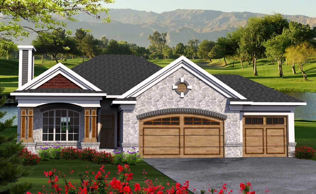 Craftsman House Plan 3 Bedrooms 2 Bath 1500 Sq Ft Plan 7 1181