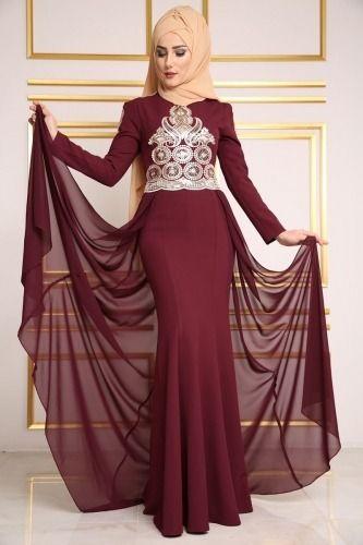Modaselvim Tesettur Kuyruklu Pelerinli Balik Abiye Modelleri Moda Tesettur Giyim The Dress Moda Stilleri Elbiseler