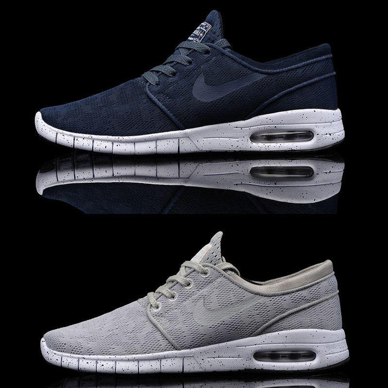 NEW,Nike SB Stefan Janoski Max Men Running Shoes Black/Blue/Red Outdoor
