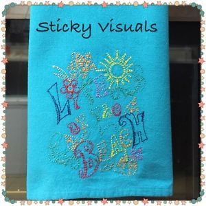 Kitchen Towel Custom Embroidered Kitchen Dish Towel with ...