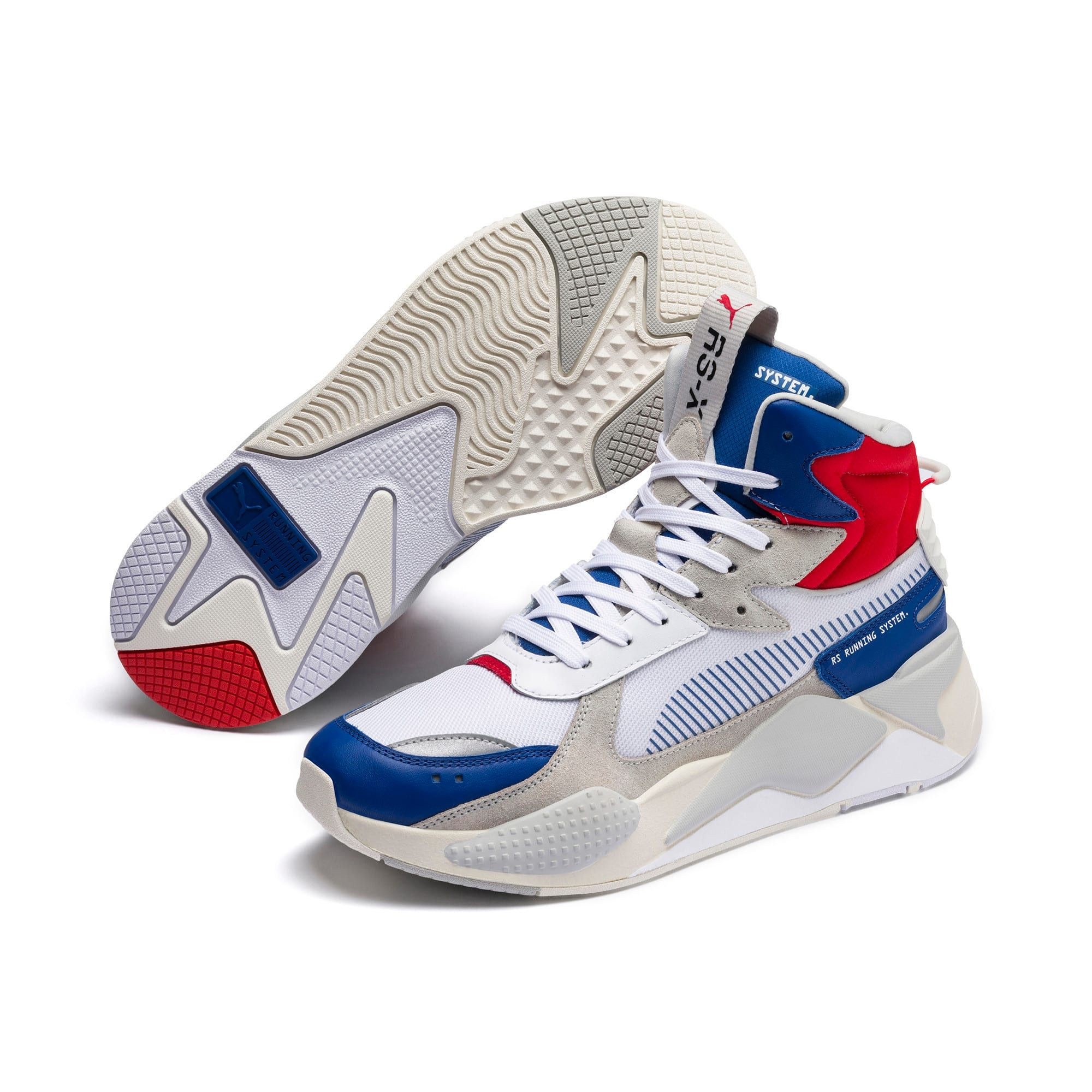 PUMA Rs X Midtop Utility Trainers in Galaxy BlueWhite size