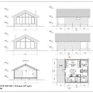 24x24 House 2 Bedroom 1 5 Bath PDF Floor Plan 24 x 24 27 47 0 sqm 505 9 sqFt & variant 52 5 sqm 564 8 sqFt