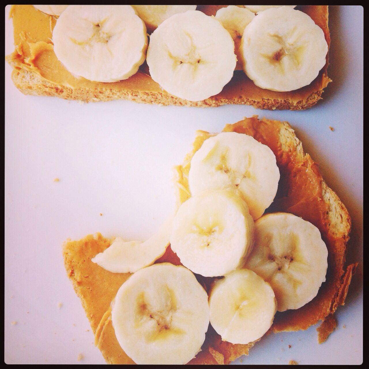 Peanut butter and bananas mmm