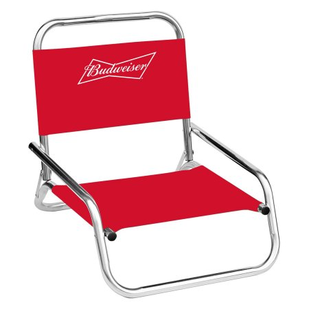 Groovy Budweiser One Position Folding Beach Chair Red Products Spiritservingveterans Wood Chair Design Ideas Spiritservingveteransorg