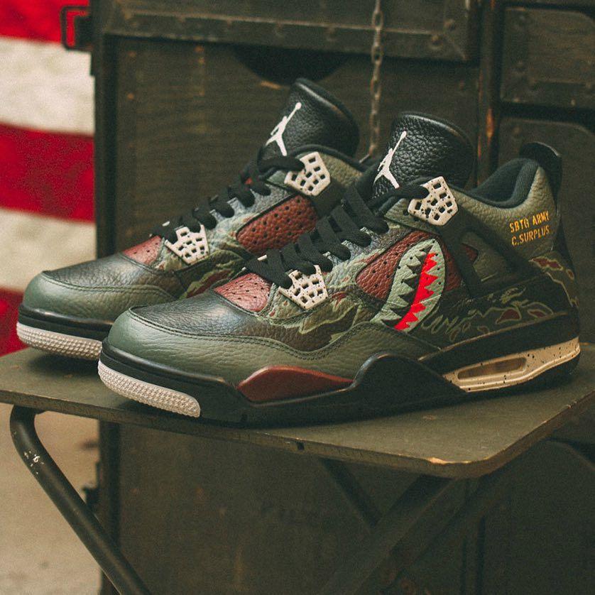 check out c497c c2da4 Legendary sneaker artist mrsabotage unveils his military-inspired Air  Jordan 4
