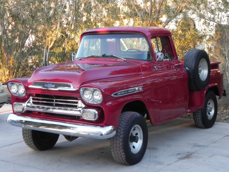 1959 Chevy 3100 Apache V8 4 Wheel Drive Pickup Truck Chevy