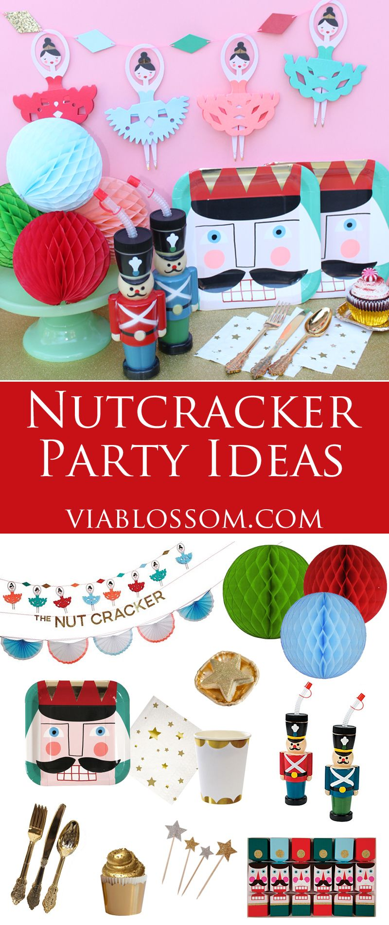 nutcracker party ideas and party supplies for a magical christmas party