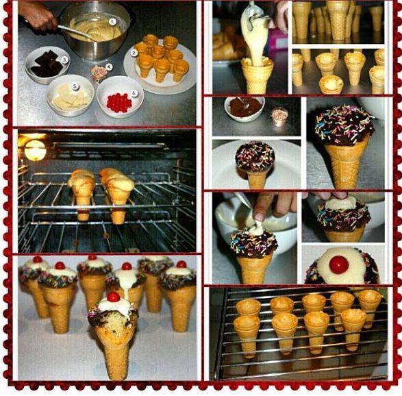 DIY icecream cupcakes
