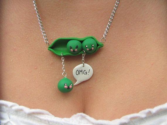 Super cute fimo necklace idea