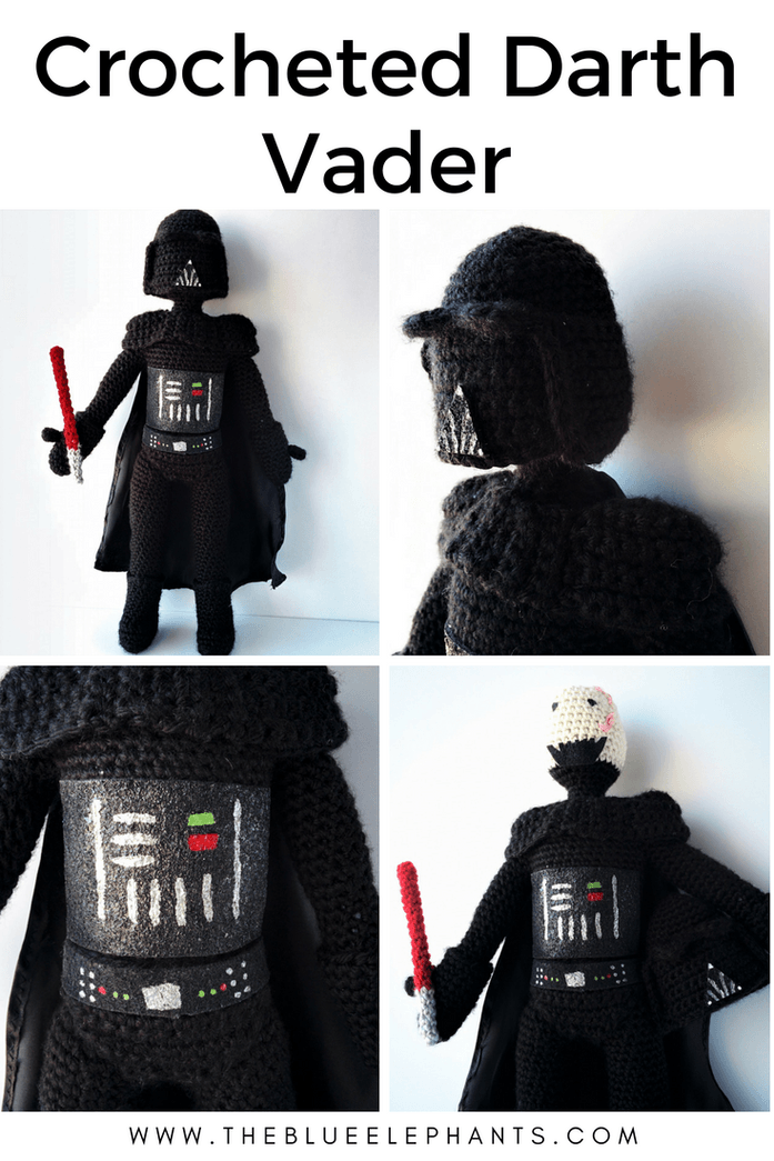 Crocheted Darth Vader: Pattern, Details, and My Changes
