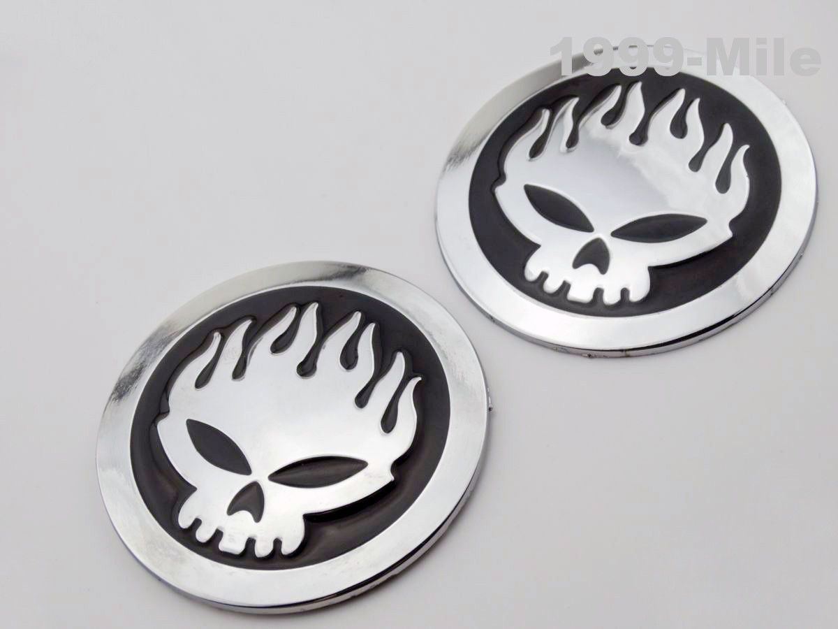 Motorcycle custom skull flame emblem decal sticker badges fuel tank fairing decals parts