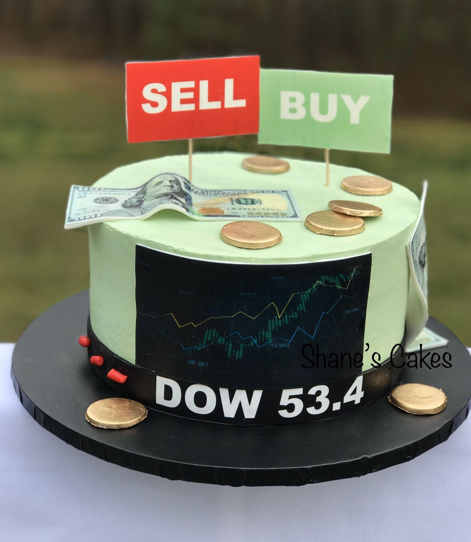 Stock Market Themed Birthday Cake Themed Birthday Cakes Cake Stock Money Birthday Cake