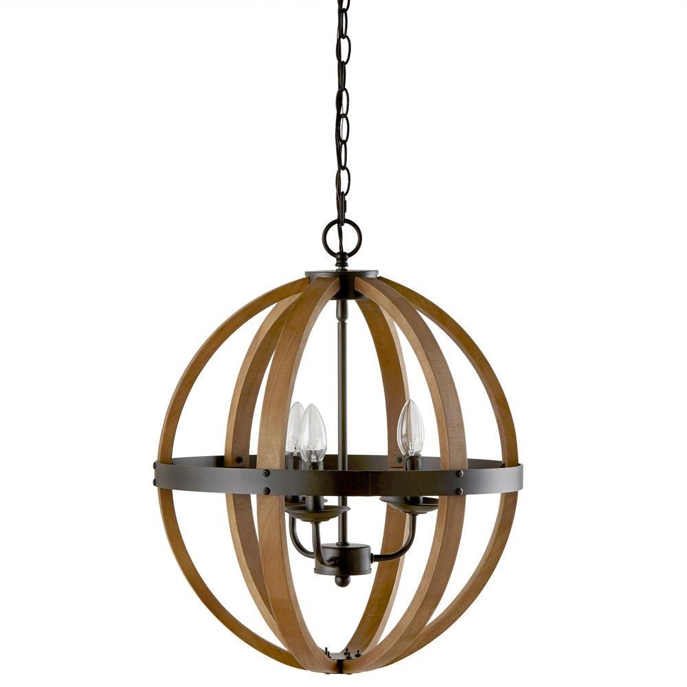 wood sphere chandelier ceiling lamp - Sphere Chandelier