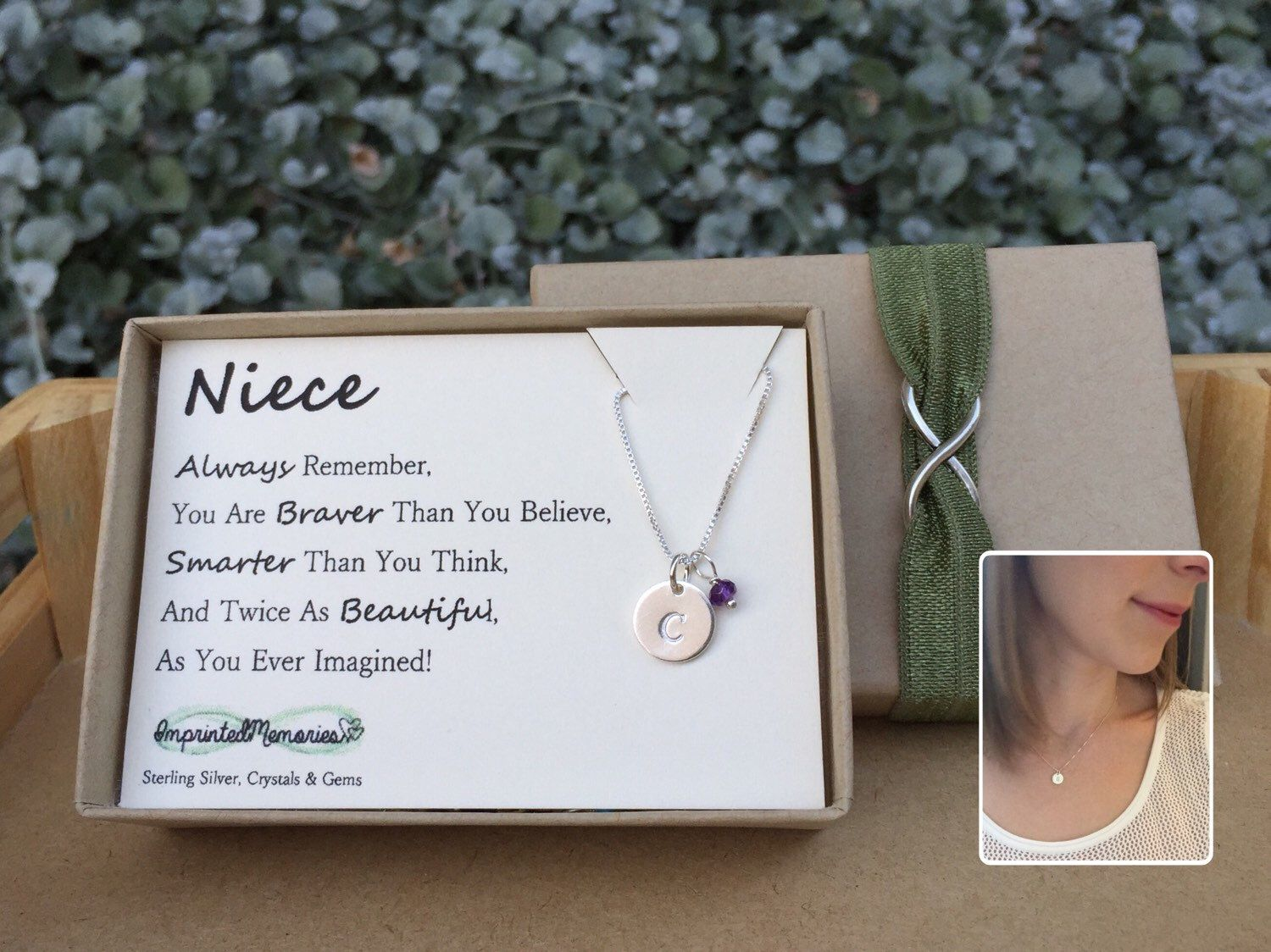 Gifts for Niece Birthstone Niece jewelry Sterling