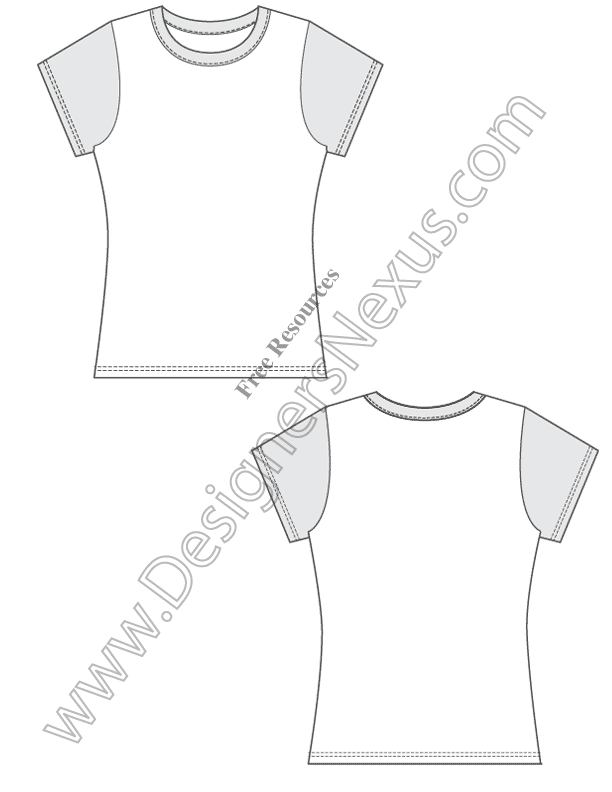 V Fitted Free Vector TShirt Design Template Sketch Free Download - T shirt design template illustrator