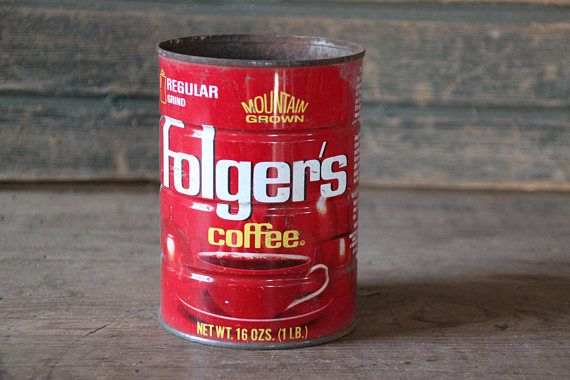 Folger s Coffee can