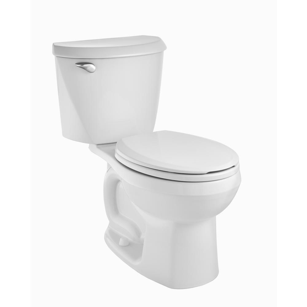 American Standard Reliant 10 In Rough In 2 Piece 1 28 Gpf Single Flush Round Toilet In White 3332db101cr 020 American Standard Toilet Flush