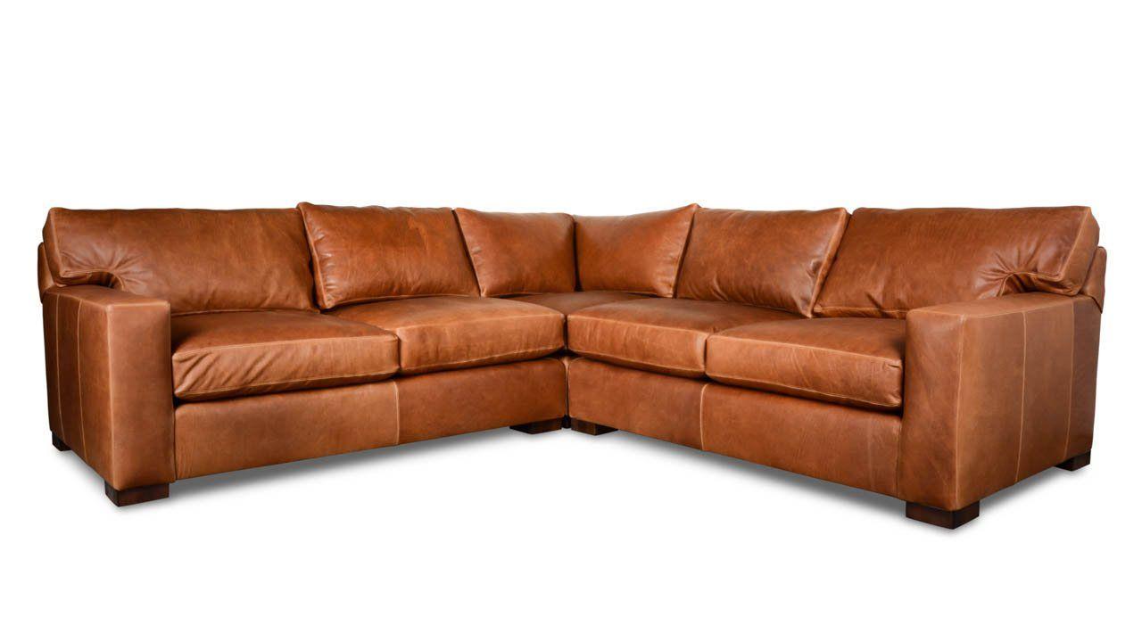 Wondrous Matthews Square Corner Leather Sectional 110 X 110 Pure Pabps2019 Chair Design Images Pabps2019Com