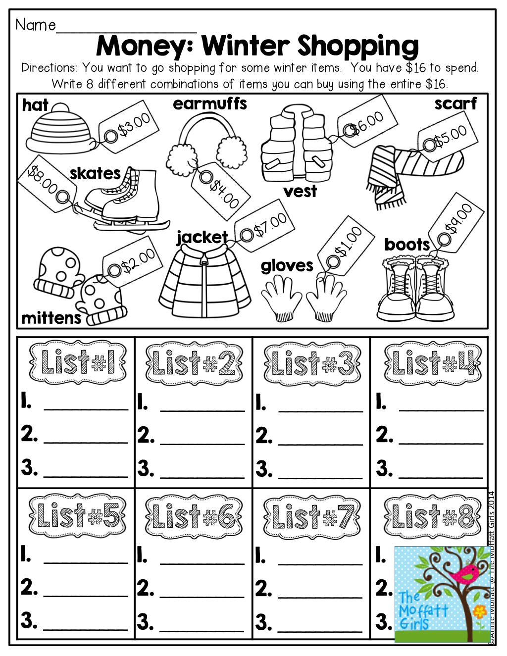 January Learning Resources with NO PREP First grade math