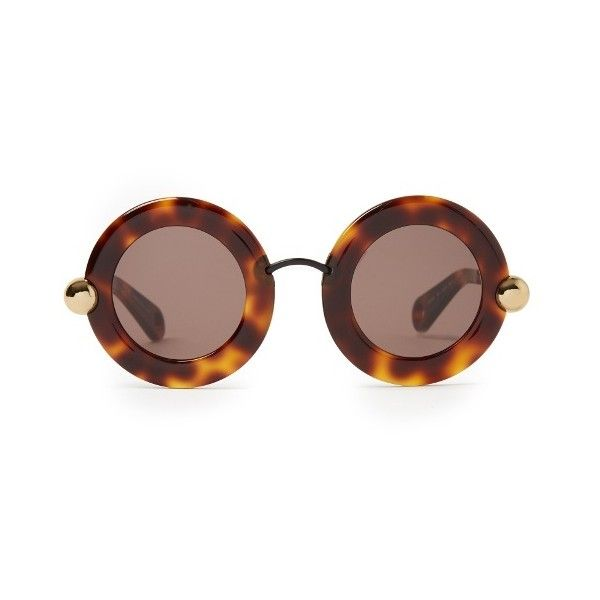 eb356c1cf2 Christopher Kane Round-frame acetate sunglasses ( 354) ❤ liked on Polyvore  featuring accessories