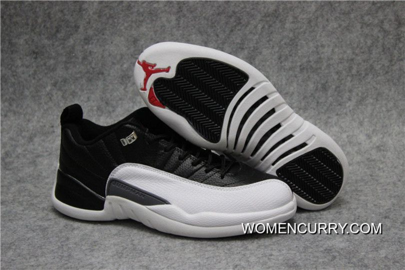 57d837b8d21ad8  PLAYOFFS  AIR JORDAN 12 LOW BLACK VARSITY RED-WHITE NEW STYLE Only  96.33