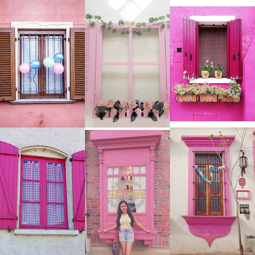 Pink Windows by:  R1C1: @fabala R1C2: @vanessmou R2C1: @ranti_mayasari R2C2: @shimplicity R3C1: @letitialulu R3C2: @avlis4  Congratulations!  Tag #windowsanddoorsoftheworld to be featured!