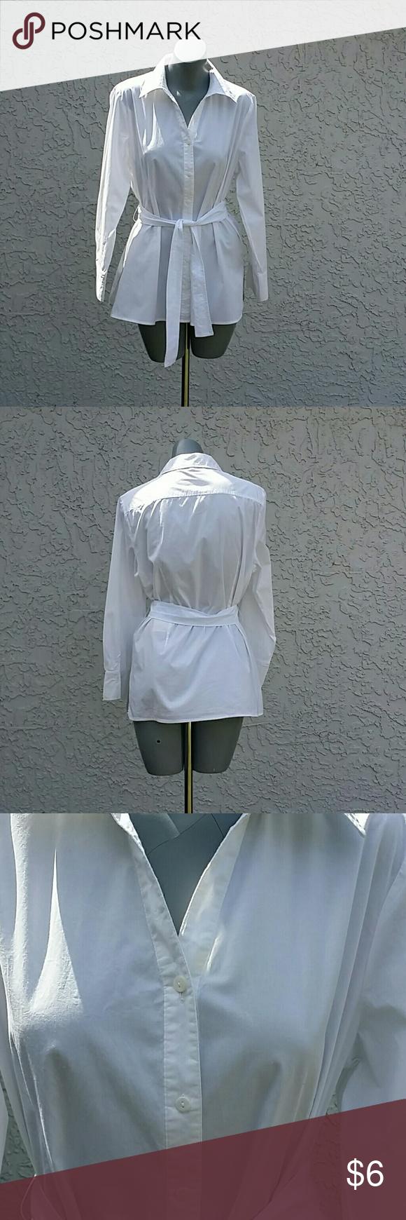 White Top White Top Peck & Peck  Tops Button Down Shirts