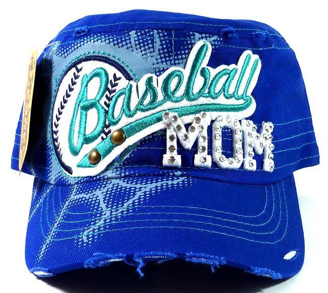 8ccdd7cdb087b Bling Baseball Mom Vintage Cadet Hats Wholesale - Royal Blue