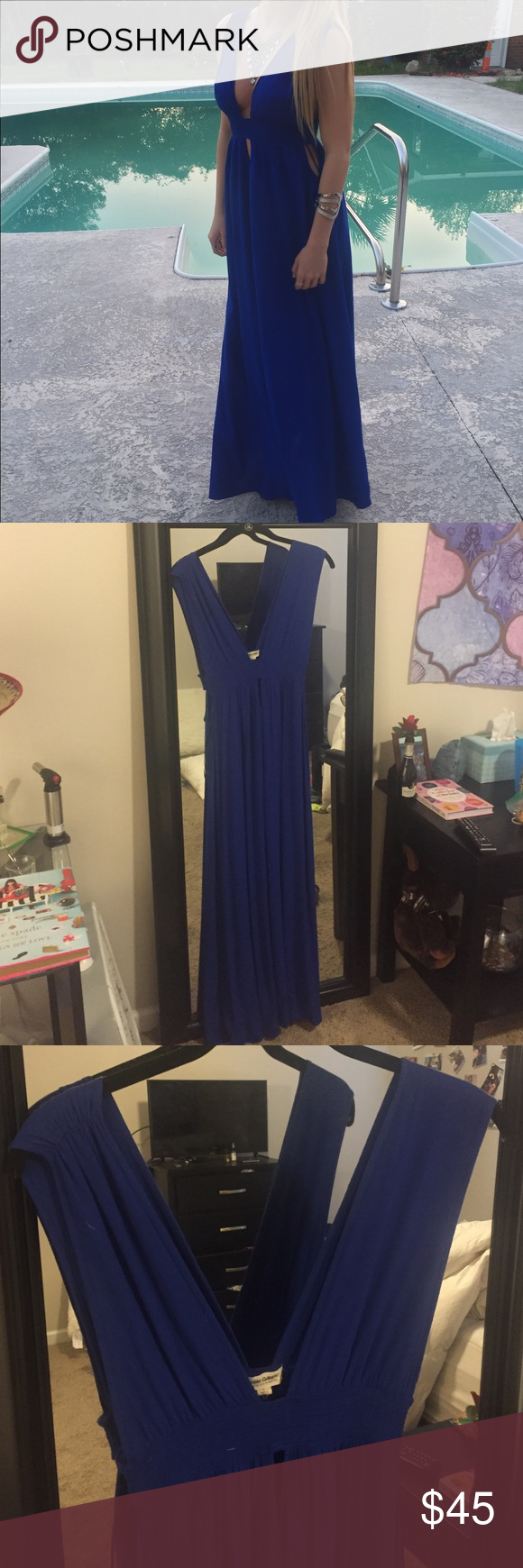 Blue maxi dress Blue maxi dress perfect for a casual prom dress or any occasion, only worn once! cotton candy Dresses Maxi