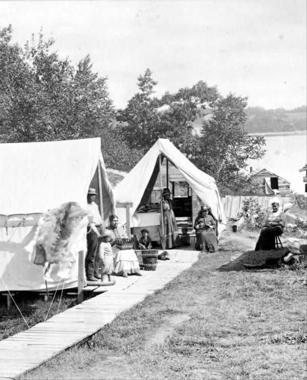Part of the Bar Harbor Indian village, ca. 1889