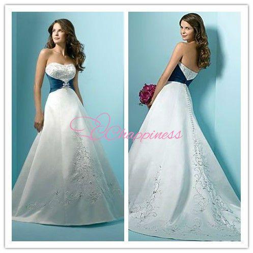 diseñador de 2013 real azul y blanco vestido de novia-XL Falda ...