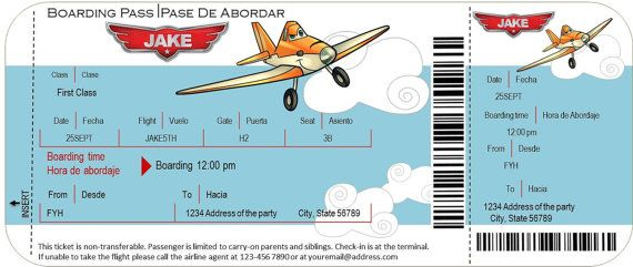 Disney Planes Birthday Party Party Airplane Pinterest Disney