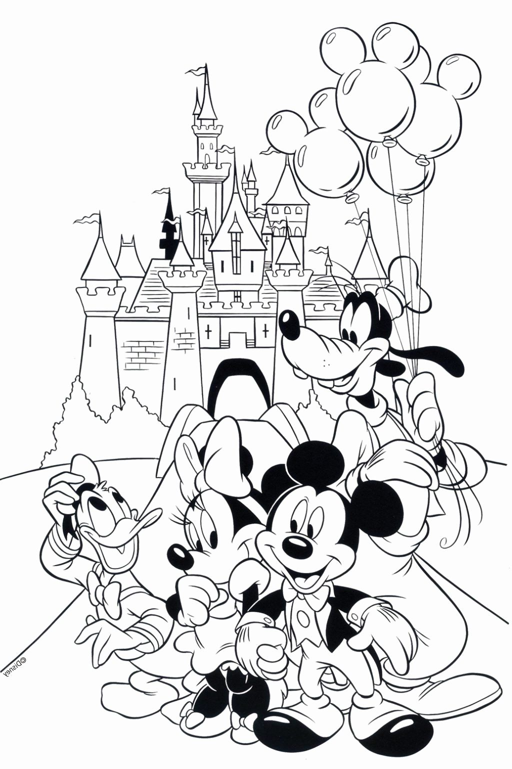 Pin on Coloriage mickey
