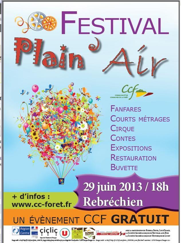 Festival Plein Air 2013 à Rebréchien. Le samedi 29 juin 2013 à Rebréchien.