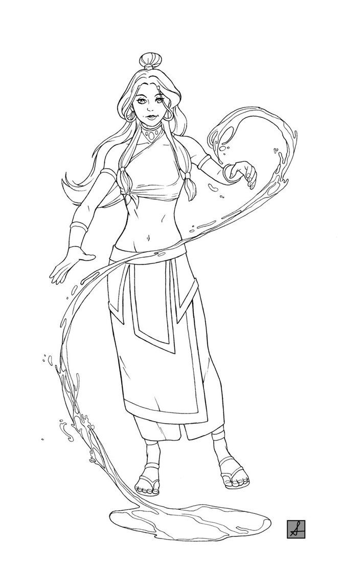 avatar the last airbender coloring pages - Google Search | Anime Art ...