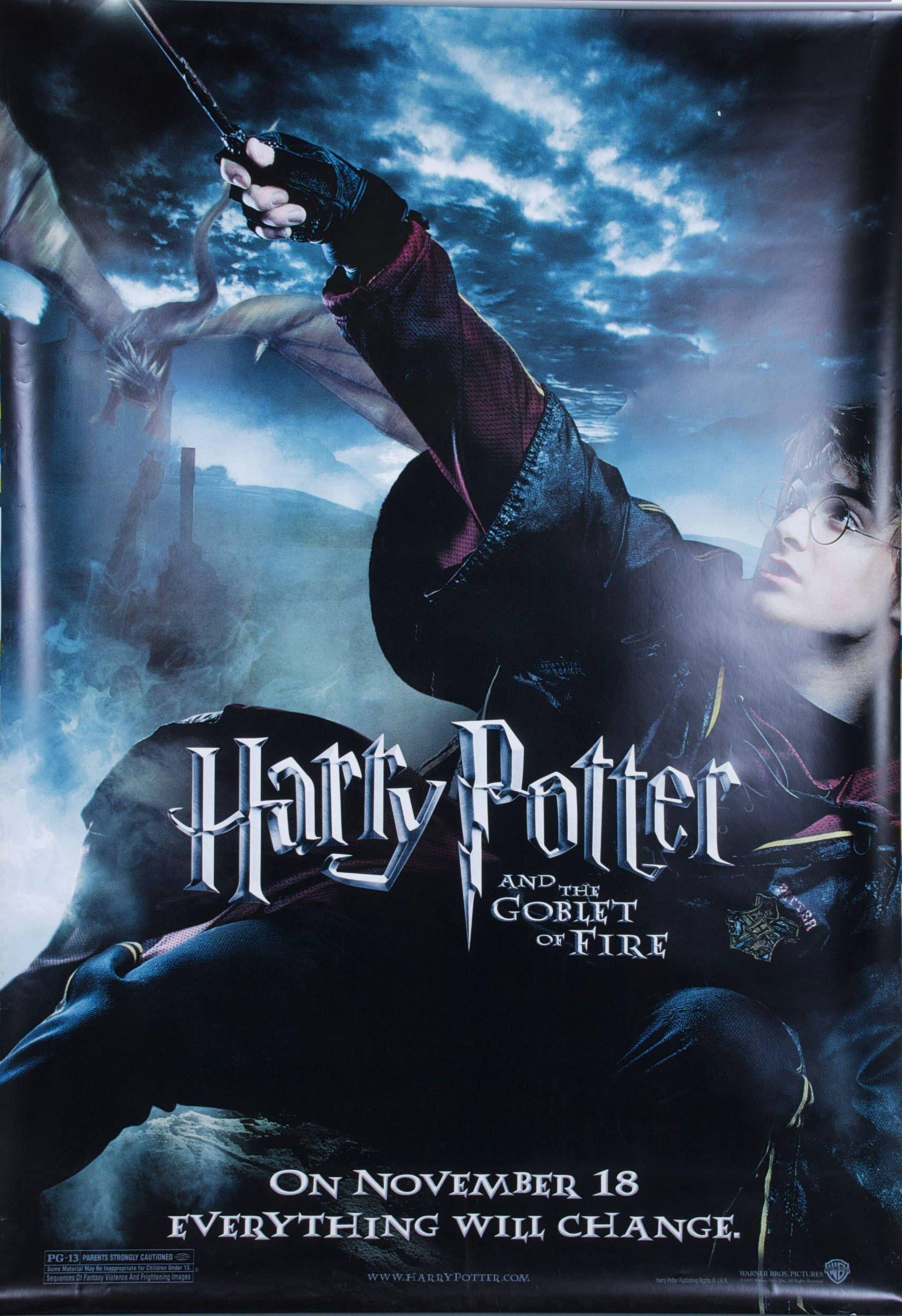 Harry Potter Goblet Of Fire Poster Poster Vintage Posters Harry Potter Goblet
