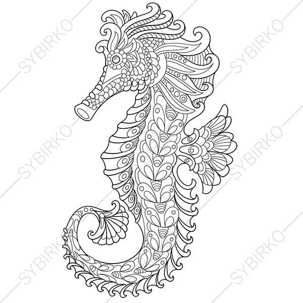 Coloring Pages For Adults Seahorse Sea Horse Adult Coloring