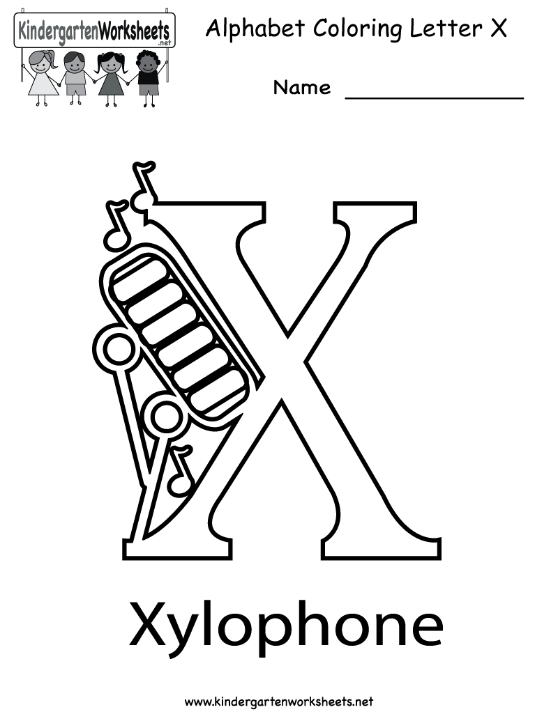 Kindergarten Letter X Coloring Worksheet Printable Alphabet Coloring Pages Alphabet Coloring Color Worksheets
